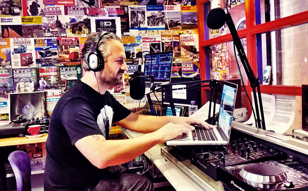 DJing at Totally Radio