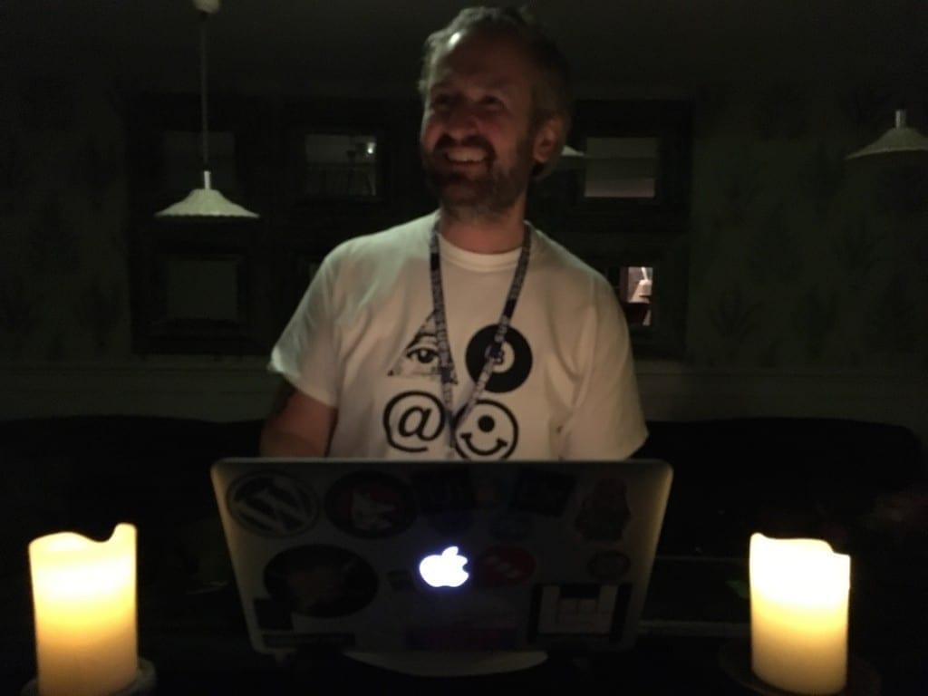 Oisin DJing at Business Rocks