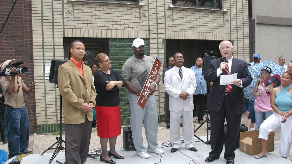 The inaugural Frankie Knuckles Day ceremony in 2004
