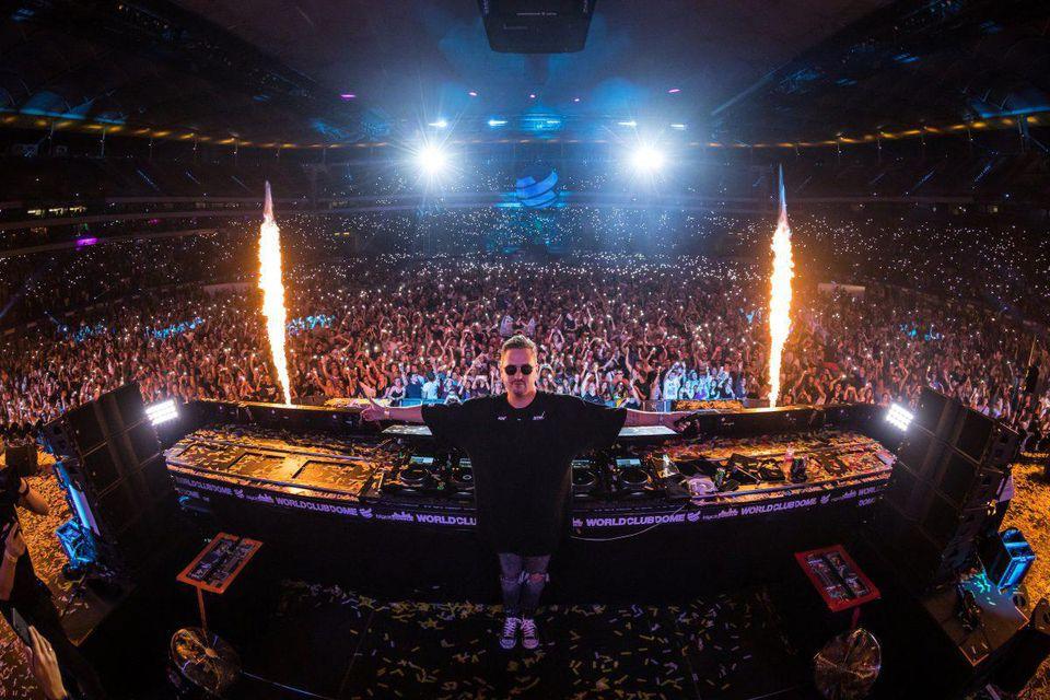 Robin Schulz DJing at World Club Dome