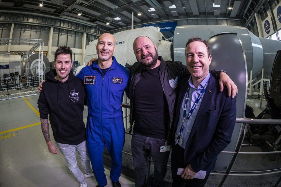 (L-R) DJ Le Shuuk, Luca Parmitano, Bernd Breiter and Emmet Fletcher