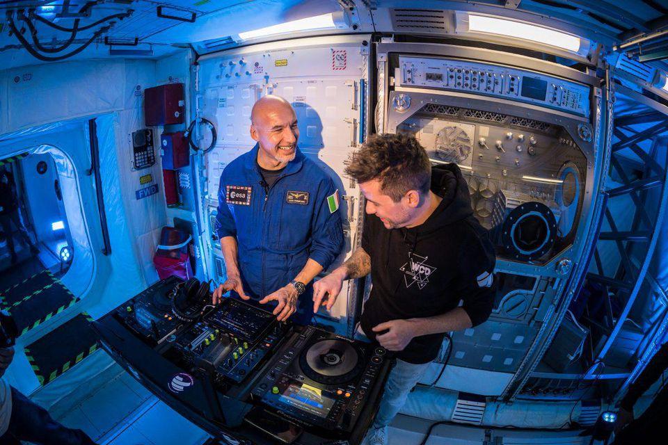 Astronaut Luca Parmitano and DJ Le Shuuk